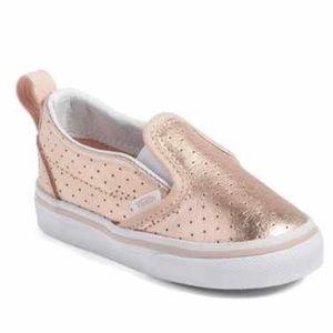 Vans Classic Toddler Slip-On Rose Gold Sneakers
